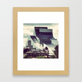 The new building of the Nation Library of Latvia in Riga Framed Art Print