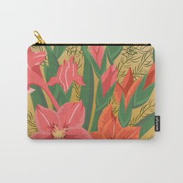 Bouquet of pink and red gladioluses Carry-All Pouch