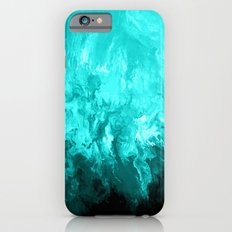 Teal - Fluid Abstract Art iPhone 6 Slim Case
