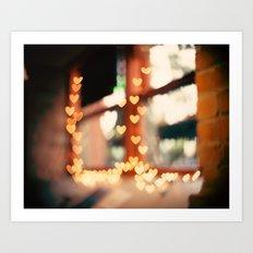At Duluth, Love heart lights, bokeh Art Print