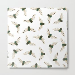 Cicada Jewels (White & Noir) Metal Print