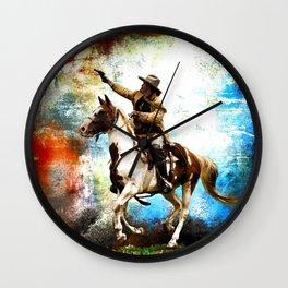Buffalo Bill Rides Again Wall Clock