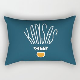Kansas City Shuttlecock Type - White Rectangular Pillow