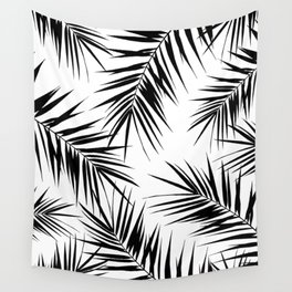 Palm Leaves Cali Finesse #3 #BlackWhite #tropical #decor #art #society6 Wall Tapestry