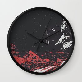 Dawn's Highway Bleeding - The Doors Wall Clock