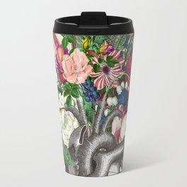 Anatomical heart and flowers Travel Mug