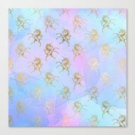 Golden Unicorn Canvas Print