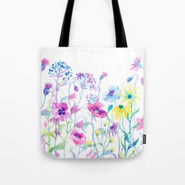Watercolor Field of Pastel Tote Bag