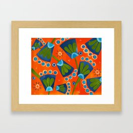 Floral Three Framed Art Print