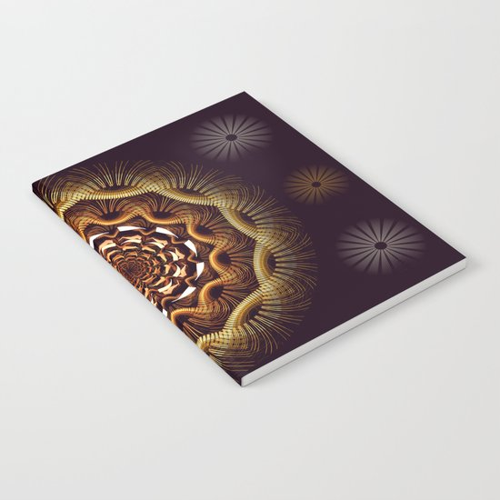 Golden curves and tribal patterns Notebook