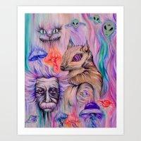 Squirrel on Acid Art Print