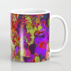 colorful floral with purple accent Mug