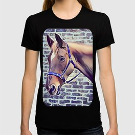 Brown Horse with Harness T-shirt