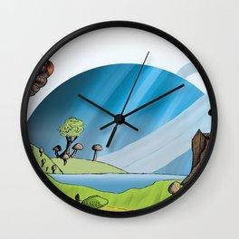 Fungi Forest Wall Clock