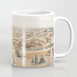 Vintage Pictorial Map of San Juan PR (1860) Coffee Mug