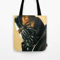 bane Tote Bags featuring BANE by csmithart