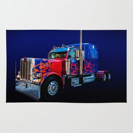 Optimus Prime Blue Rug