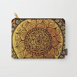 Sunburst Mandala Collage Carry-All Pouch