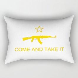 Come and Take It AK47 Yellow Rectangular Pillow