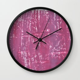Lilac violet blurred wash drawing Wall Clock