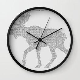 Moose Code Wall Clock