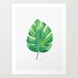 Tropical Palm Leaf 04 Art Print