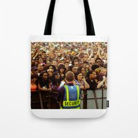 concert Tote Bags featuring Concert Crowd by ThatRaulSanchez