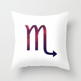 Starry Scorpio Symbol Throw Pillow