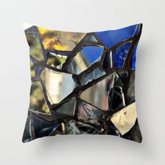 Closeup (PHOTO) of a Glass Mosaic Throw Pillow
