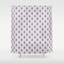 French bulldog and lavender Shower Curtain