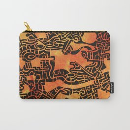 Orange Abstract Print Carry-All Pouch