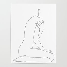 Nude life drawing figure - Cherie Poster