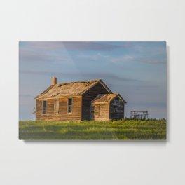 County Road, North Dakota 15 Metal Print