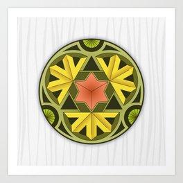 Mandala Autumn Art Print