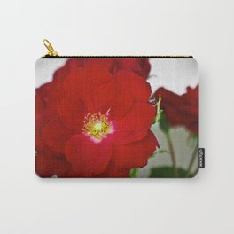 Open Red Shrub Roses Carry-All Pouch