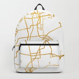 QINGDAO CHINA CITY STREET MAP ART Backpack