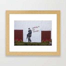 A Gentleman goes walking; Camino to Santiago de Compostela Framed Art Print