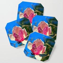 Magnolia Blossom In Pink Coaster