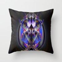ninja Throw Pillows featuring Ninja by Robin Curtiss