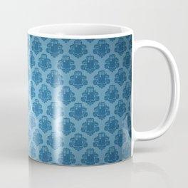 Blue Tardis Pattern Coffee Mug