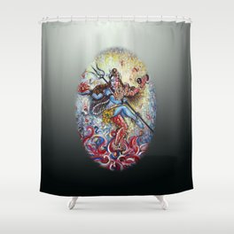 Shiva Shakti Shower Curtain
