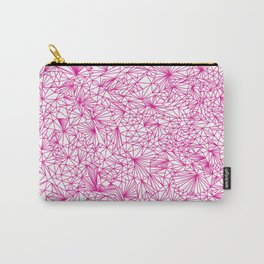 Pure Geometry Pink Carry-All Pouch