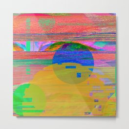 Abstract Glitch001 Metal Print