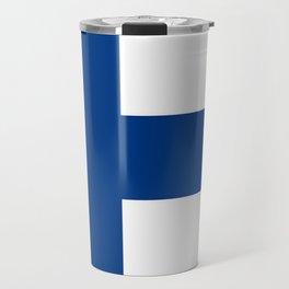 Flag of Finland 1 -finnish, Suomi, Sami,Finn,Helsinki,Tampere Travel Mug