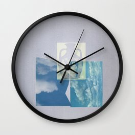 Portland Vase in Blue Wall Clock