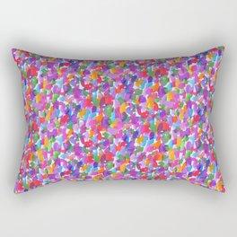 Loose Watercolor Warm Rectangular Pillow