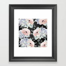 Night Succulents Framed Art Print