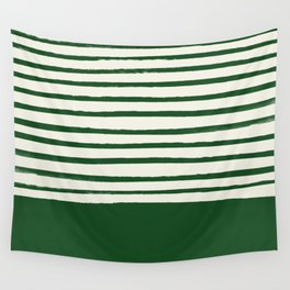 Holiday x Green Stripes Wall Tapestry