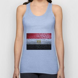Flag of Egypt - Raindrops Unisex Tank Top