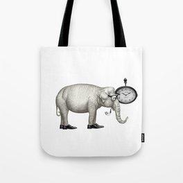 Elefante con gafas, espera. Tote Bag